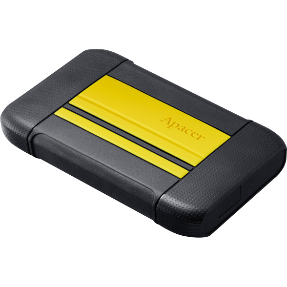 Hard disk extern External HDD Apacer AC633 2.5'' 1TB USB 3.1, shockproof military grade, Yellow