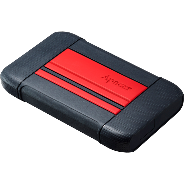 Hard disk extern External HDD Apacer AC633 2.5'' 2TB USB 3.1, shockproof military grade, Red