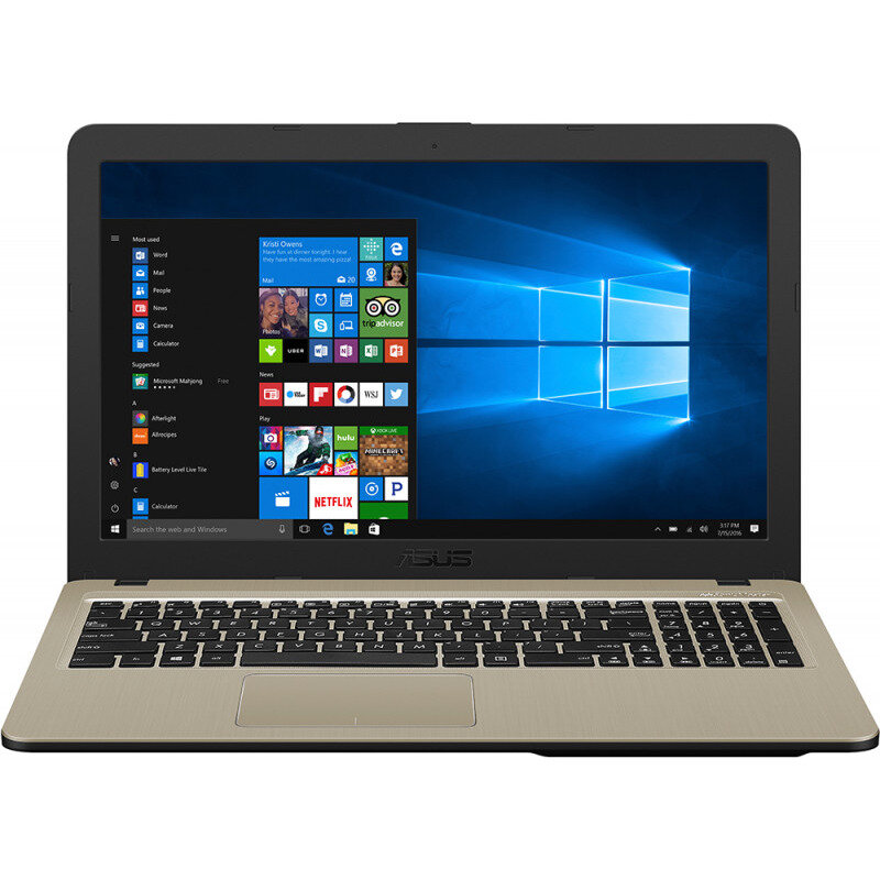Notebook VivoBook X540UB 15.6'' FHD i3-7020U 4GB 1TB nVidia GeForce MX 110 2GB Windows 10 Home Black