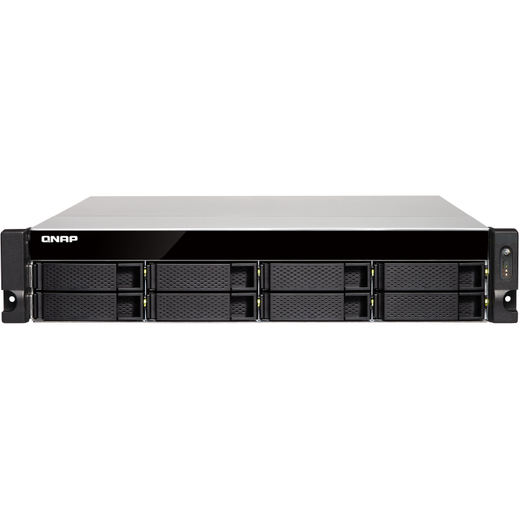 NAS QNAP 8-Bay TurboNAS, SATA 6G, Quad Core 1,7GHz, 4GB, 2xGbE, 2x10Gb SFP w/o rails