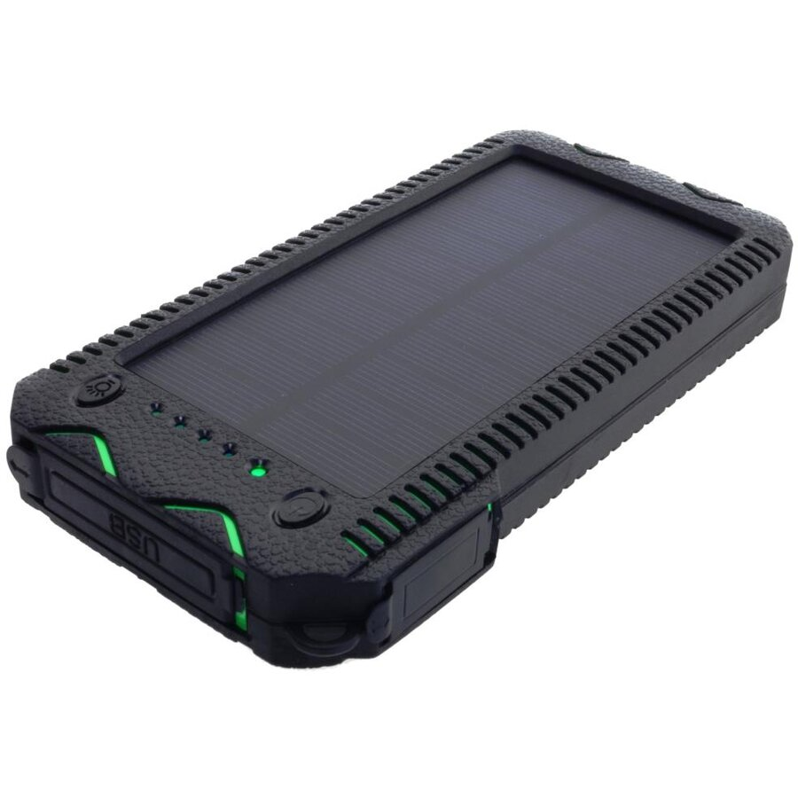 PowerNeed Sunen Power Bank 12000mAh cu panou solar 1W, verde