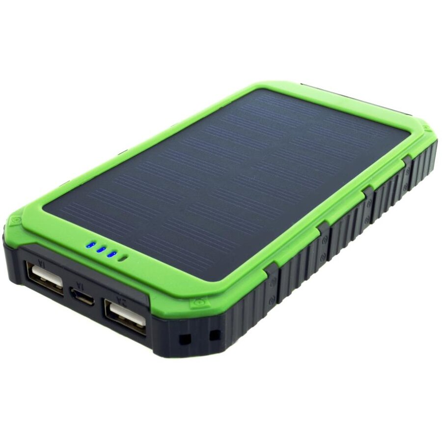 PowerNeed Sunen Power Bank 6000mAh cu panou solar 0.8W, verde