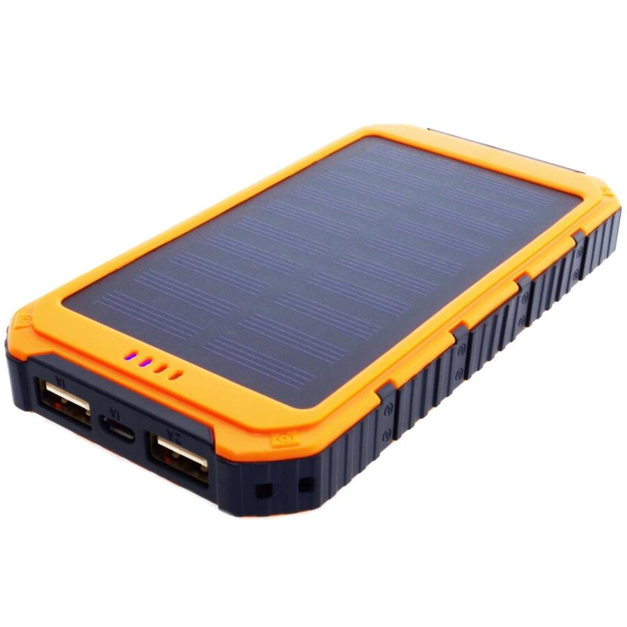 PowerNeed Sunen Power Bank 6000mAh cu panou solar 0.8W, portocalie