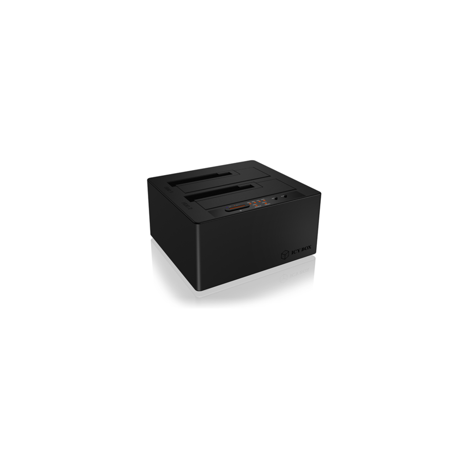 HDD Rack Docking and clone station for 2x 2,5''/3,5'' HDD, USB 3.1 Type-C, Led, Black
