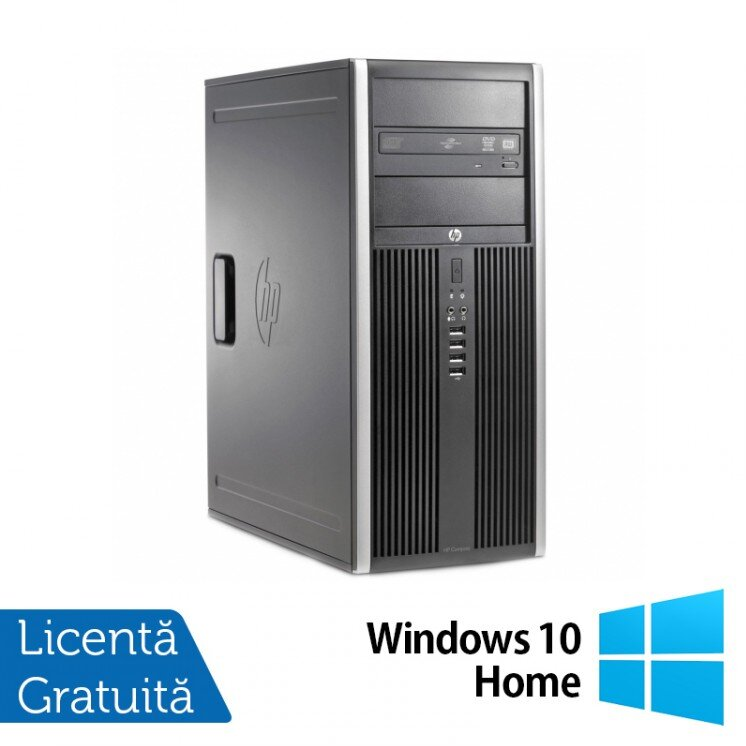 Calculator HP 6200 Pro Tower, Intel Core i7-2600 3.40GHz, 4GB DDR3, 320GB SATA, DVD-RW + Windows 10 Home