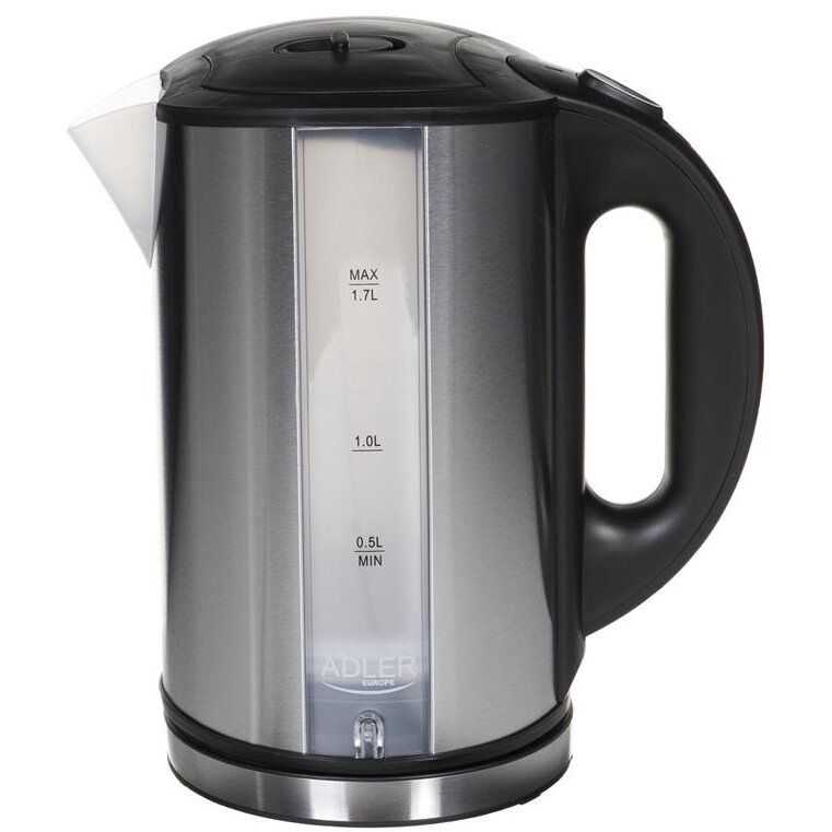 Fierbator Kettle electric Adler AD 1216 (2000W 1.8l; silver color)