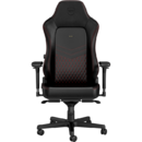 NobleChairs HERO Real Leather Black/Red (NBL-HRO-RL-BRD-SGL)