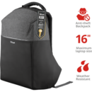 Trust Nox Anti-theft Backpack for 16 inch laptops - black