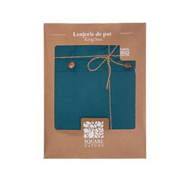 SQUARE NATURE LENJERIE PAT KS BBC ORGANIC 144TC BLUE