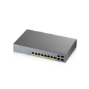 Switch ZyXEL GS1350-12HP pt CCTV | 10 x 10/100/1000 Mbps Mbit/s | 2 10/100/1000 SFP | 8x POE| Smart Management | PoE | Montabil in rack
