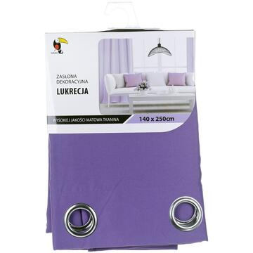Curtain Tuckano Lukrecja Fiolet (140 x 250 cm; purple color)