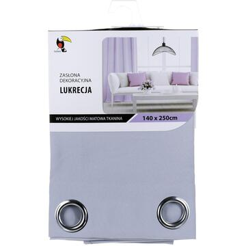 Curtain Tuckano Lukrecja Jasnoszara (140 x 250 cm; light gray color)