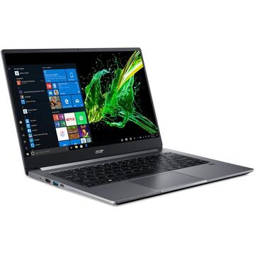 Notebook Acer Swift 3 SF314-57G, FHD, Procesor Intel® Core™ i5-1035G1 (6M Cache, up to 3.60 GHz), 8GB DDR4, 512GB SSD, GeForce MX350 2GB, Win 10 Home, Steel Gray
