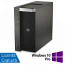 Desktop Refurbished Workstation DELL Precision T7910 2x Intel Xeon Deca Core E5-2687W V3 3.1GHz-3.5GHz 25MB Cache, 64GB DDR4 ECC, 2x 1TB SSD + 2x 1.2TB HDD SAS/10k + nVidia Tesla K20 GPU Accelerator 5GB/320biti + nVidia Quadro K4000 3GB/192biti + Windows 10 Pro