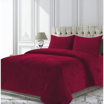 Heinner SET CUVERTURA CATIFEA KING SIZE ROSE