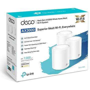 Router wireless TP-LINK WiFi AX3000 Deco X60(3-pack)