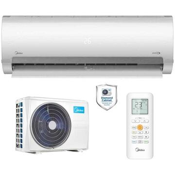 Instalatie de aer conditionat Aparat de aer conditionat Midea Prime MA2-18NXD0-MA-18N8D0 Inverter 18000 BTU, Clasa A++, Sistem dublu de filtrare, Silentiozitate 22 dB, Flash Cooling and Heating, Gear Change, iECO mode, Auto-curatare, Wi-FI