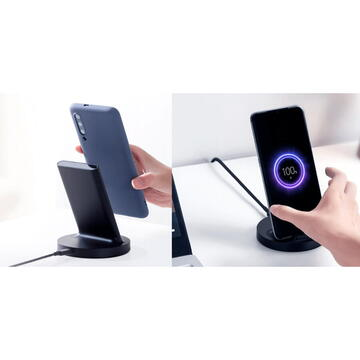 Xiaomi Mi Wireless Charging Stand Quick Charge 20W (Max.), Negru