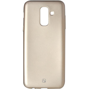 Husa Just Must Husa Silicon Lanker Samsung Galaxy A6 Plus (2018) Gold