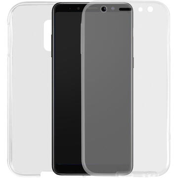 Husa Lemontti Husa Silicon Full Cover 360� Samsung Galaxy A6 (2018) Transparent