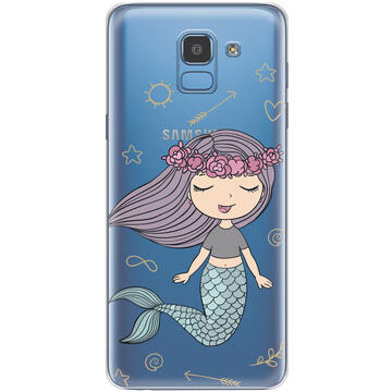 Husa Lemontti Husa Silicon Art Samsung Galaxy J6 (2018) Little Mermaid