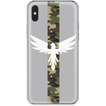 Husa Lemontti Husa Silicon Art iPhone XS / X Army Eagle