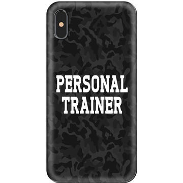 Husa Lemontti Husa Silicon Art iPhone XS / X Personal Trainer