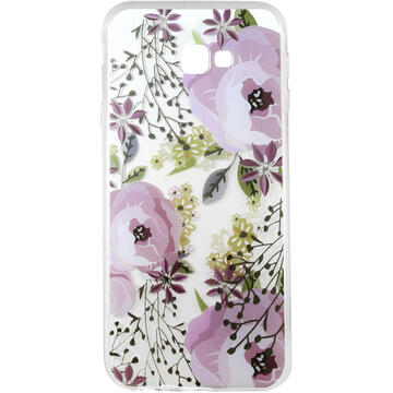 Husa Lemontti Husa Silicon Art Samsung Galaxy J4 Plus Flowers
