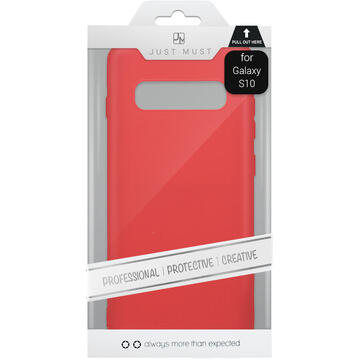 Husa Just Must Husa Silicon Candy Samsung Galaxy S10 G973 Red
