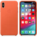 Husa Apple Husa Leather iPhone XS Max Sunset (piele naturala)