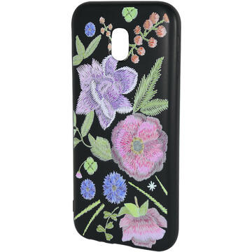 Husa Just Must Husa Silicon Printed Embroidery Samsung Galaxy J3 (2017) Flowers
