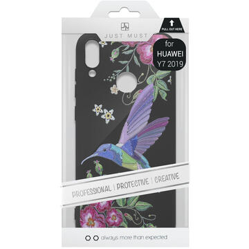Husa Just Must Husa Silicon Printed Embroidery Huawei Y7 2019 Colibri