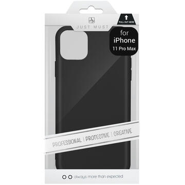 Husa Just Must Husa Silicon Candy iPhone 11 Pro Max Black