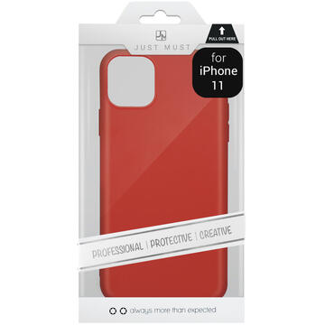 Husa Just Must Husa Silicon Candy iPhone 11 Red