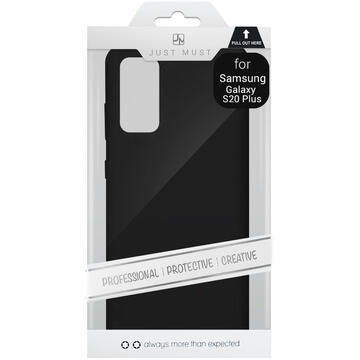 Husa Just Must Husa Silicon Candy Samsung Galaxy S20 Plus Black