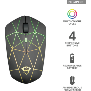Mouse Trust GXT 117 STRIKE WIRELESS GAMING