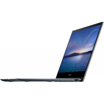 Notebook Asus ZenBook Flip 13 UX363EA, FHD Touch, Procesor Intel Core i7-1165G7 (12M Cache, up to 4.70 GHz, with IPU), 16GB DDR4, 1TB SSD, Intel Iris Xe, Win 10 Home, Pine Grey