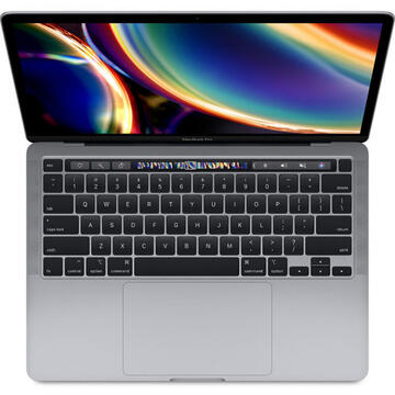 "Notebook Laptop Apple MacBook Pro 13"" 2020 Touch Bar, procesor Intel® Core™ i5 1.4GHz, 8GB, 512GB SSD, Intel Iris Plus Graphics 645, Space Grey, INT KB"
