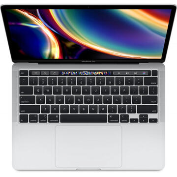 Notebook Apple MacBook Pro 13 Retina with Touch Bar, Ice Lake i5 2.0GHz, 16GB DDR4X, 512GB SSD, Intel Iris Plus, Mac OS Catalina, Silver, INT keyboard, Mid 2020