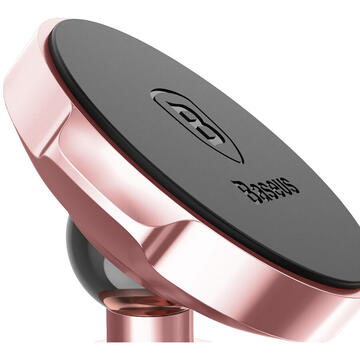 Baseus Suport Auto Small Ears Magnetic Rose Gold (rotatie 360�, cu adeziv)