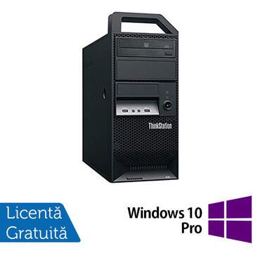 Desktop Refurbished Workstation Lenovo ThinkStation E30 Tower, Intel Xeon Quad Core E3-1220 3.10GHz-3.40GHz, 8GB DDR3, 500GB SATA, nVidia NVS 300/512MB, DVD-ROM + Windows 10 Pro
