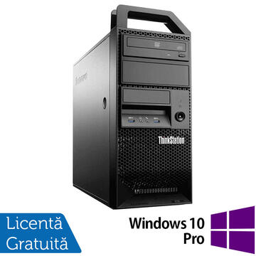 Desktop Refurbished Workstation Lenovo ThinkStation E31 Tower, Intel Core i7-3770 3.40GHz-3.90GHz, 12GB DDR3, 240GB SSD + 2TB HDD, AMD Radeon HD 7350 1GB GDDR3 + Windows 10 Pro
