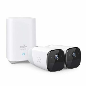 Camera de supraveghere Kit supraveghere video eufyCam 2 Security wireless, HD 1080p, IP67, Nightvision, 2 camere video
