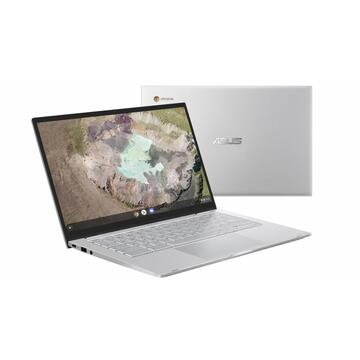 Notebook Asus AS 14T M3-8100Y 8G 128G UMA CHROME SILVE