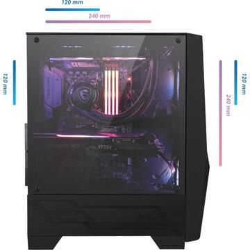 Carcasa MSI MAG FORGE 100R, tower case(black, tempered glass)