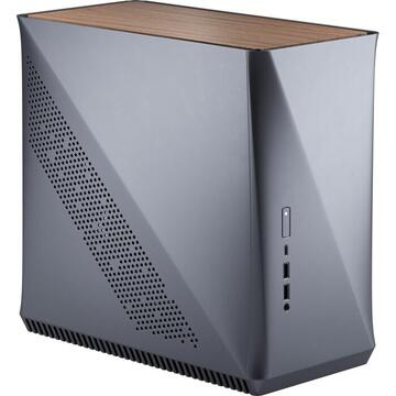 Carcasa Fractal Design Era ITX Titanium Gray - Walnut, housing (gray / brown, wood top panel)