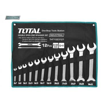 TOTAL Set 12 chei fixe - 6-32mm (INDUSTRIAL)