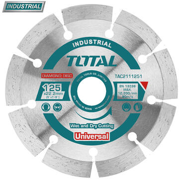 TOTAL Disc debitare beton - 180mm (INDUSTRIAL)