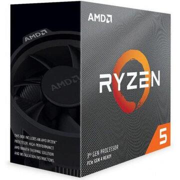 Procesor AMD Ryzen 5 3600XT Processor 6C/12T 35MB Cache 4.5 GHz Max Boost With Wraith Spire Cooler