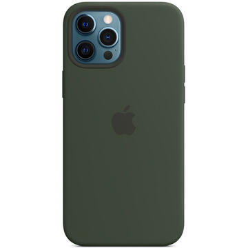 Husa Apple iPhone 12 Pro Max Silicone Case MagSafe - Cypress Green